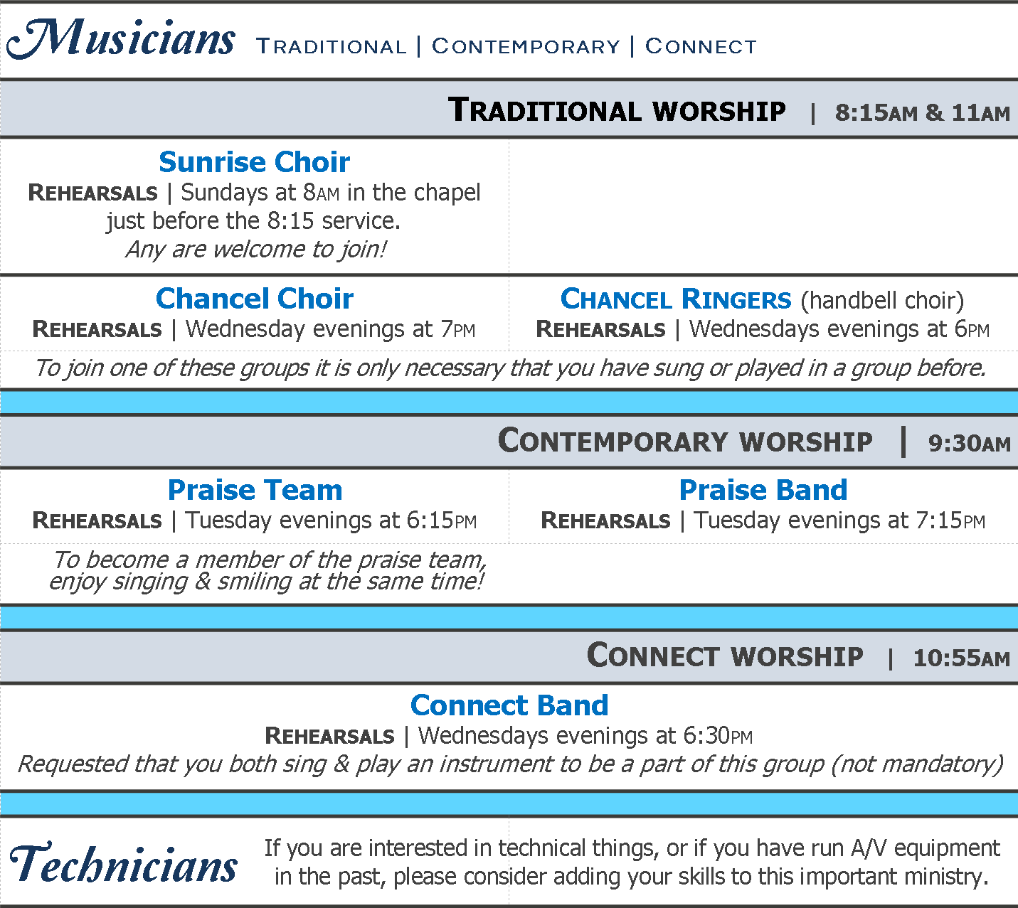 worship opportunities